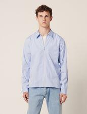 Gestreiftes Hemd Mit Reißverschluss : Hemden farbe Blau