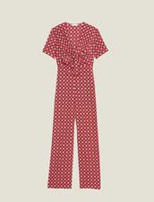 Fließender Jumpsuit Mit Print : null farbe Rot