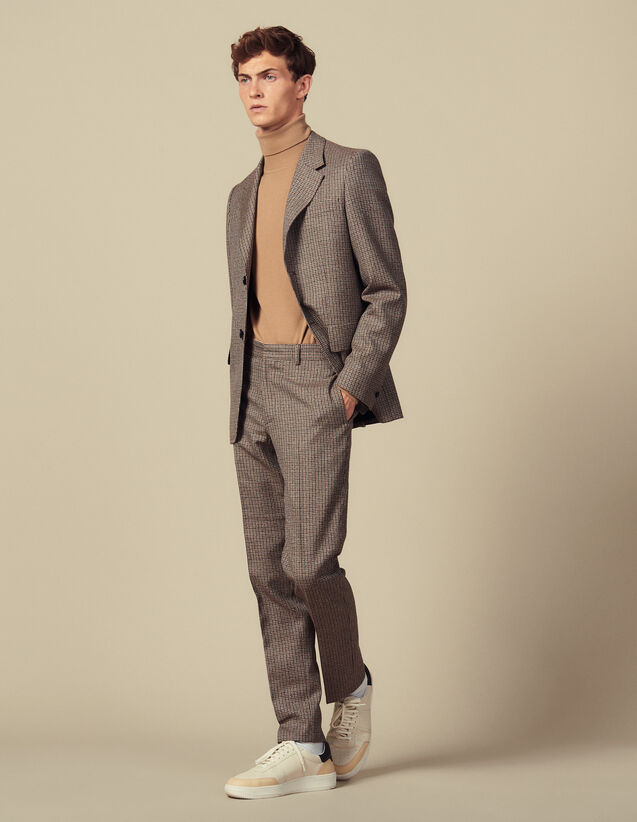 Anzughose mit Hahnentrittmuster : Anzüge & Smokings farbe Camel