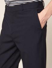 Hose In Karottenform Mit Umschlag : Hosen & Shorts farbe Marine
