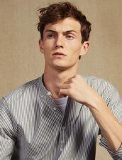 Gestreiftes Tunikahemd Aus Baumwolle : Hemden farbe Weiss/Blau
