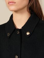 Wollmantel mit goldenen Druckknöpfen : Mäntel farbe Schwarz