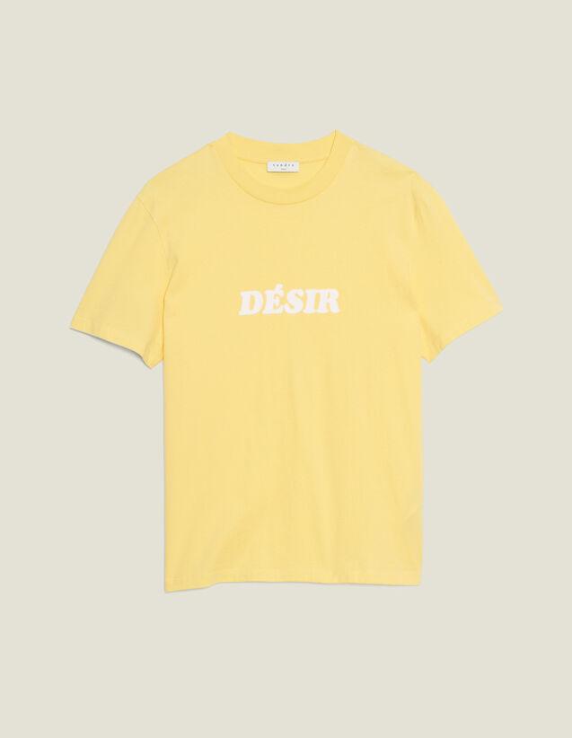 T-Shirt Aus Baumwolle Mit Schriftzug : T-Shirts & Polos farbe Blassgelb