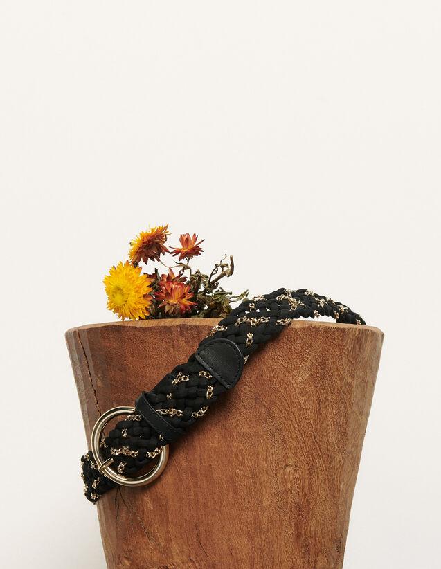 Geflochtener Gürtel : Gürtel farbe Schwarz