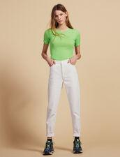 Fluo-T-Shirt Aus Strick : Tops & Hemden farbe Vert fluo