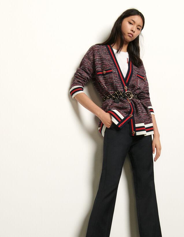 Cardigan im Tweed-Style : Pullover & Cardigans farbe Blau/Rot
