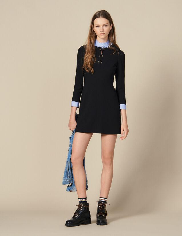 Gerades Kleid mit Volantkragen : FBlackFriday-FR-FSelection-30 farbe Schwarz