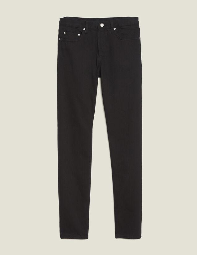 Gerade Jeans Aus Baumwolltoile : Jeans farbe Schwarz
