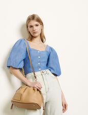 Hemdbluse mit Puffärmeln : Tops & Hemden farbe Blau