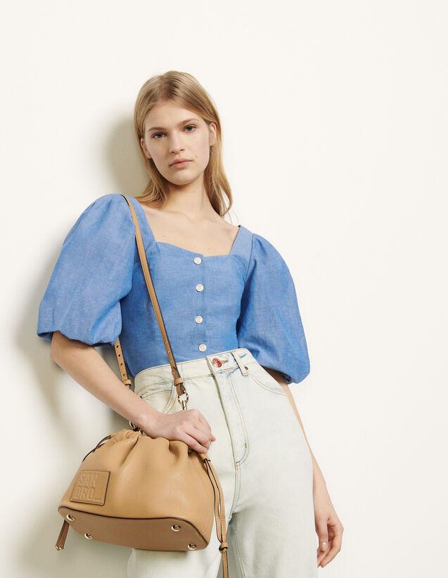 Hemdbluse mit Puffärmeln : Diese Woche farbe Blau