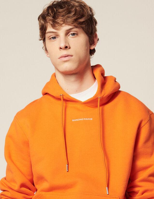 Kapuzen-Sweatshirt Mit Logo-Stickerei : HAnciennesCollections farbe Orange