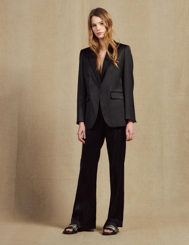 Hose Aus Satiniertem Stoff : Hosen farbe Schwarz