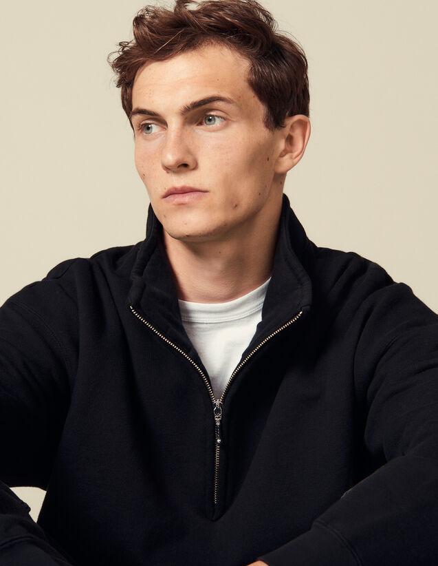 Sweatshirt Mit Stehkragen : Sweatshirts farbe Schwarz