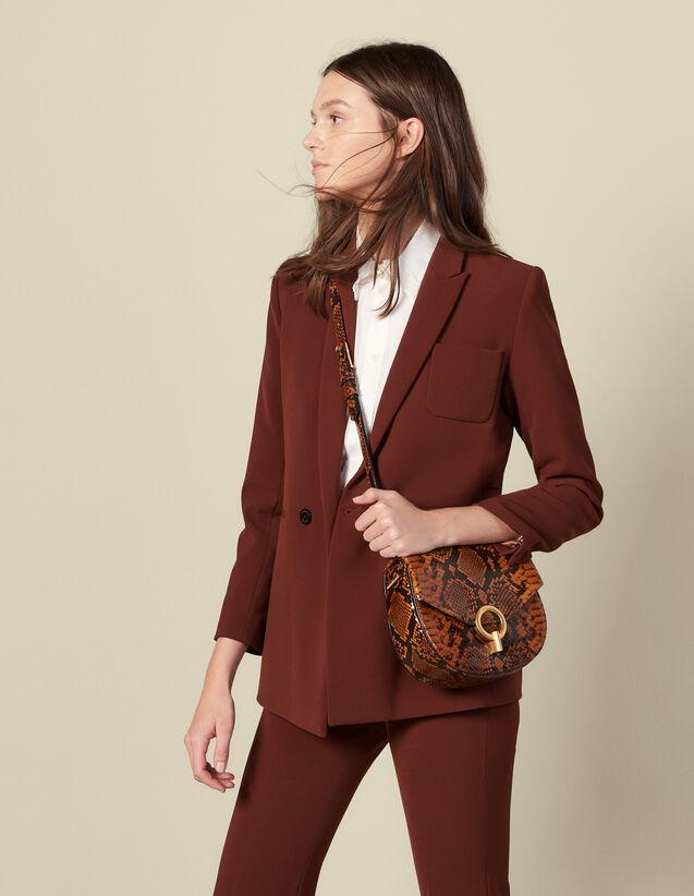 Zweireihige Kostümjacke : Blousons & Jacken farbe Tabak