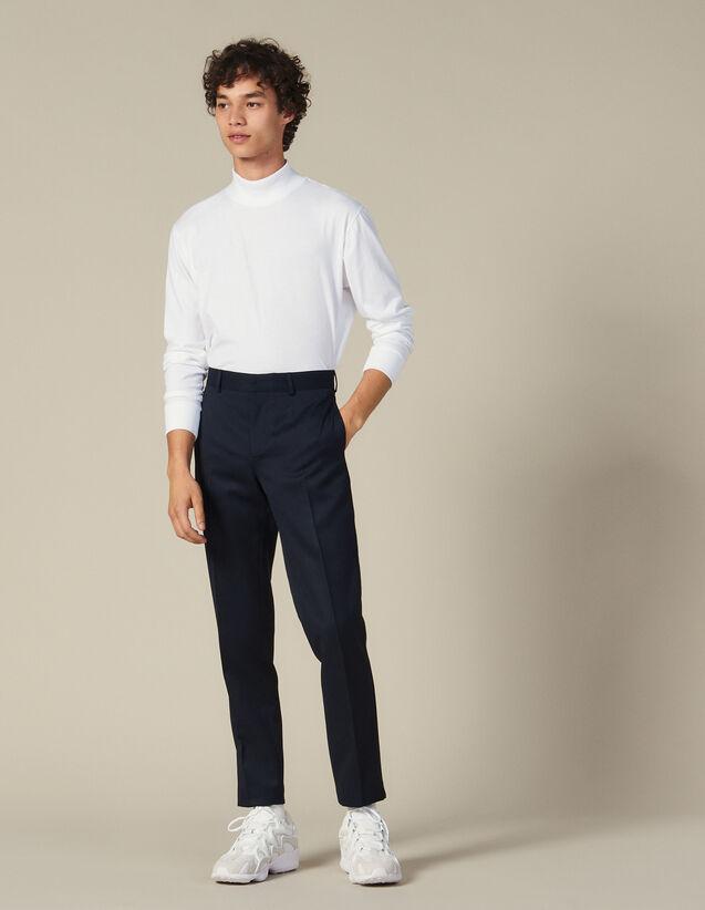 T-Shirt Mit Stehkragen : T-shirts farbe Weiß