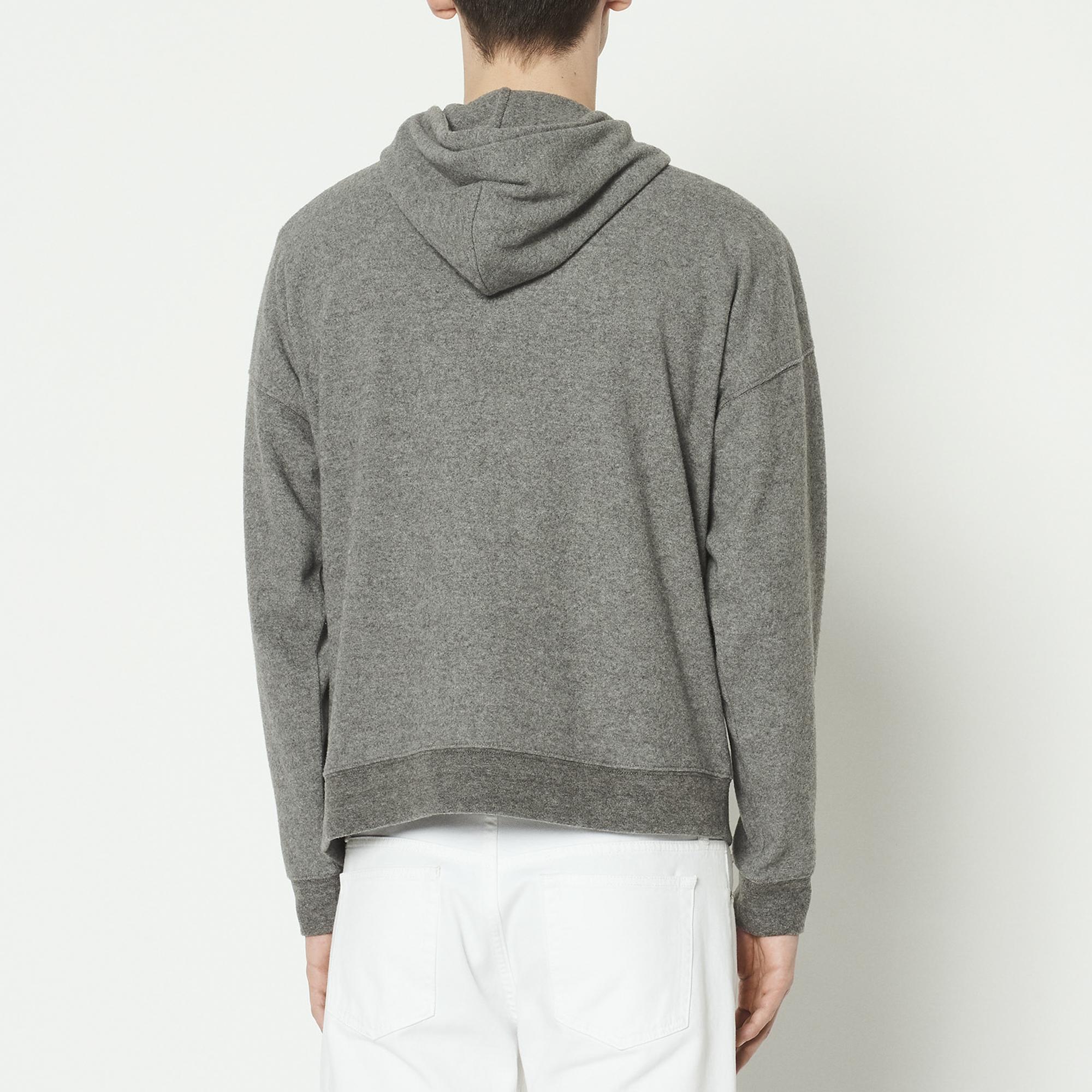 ... Kapuzen-Sweatshirt mit Reißverschluss   Sommerkollektion farbe Grau  Meliert ... 284cde28ec