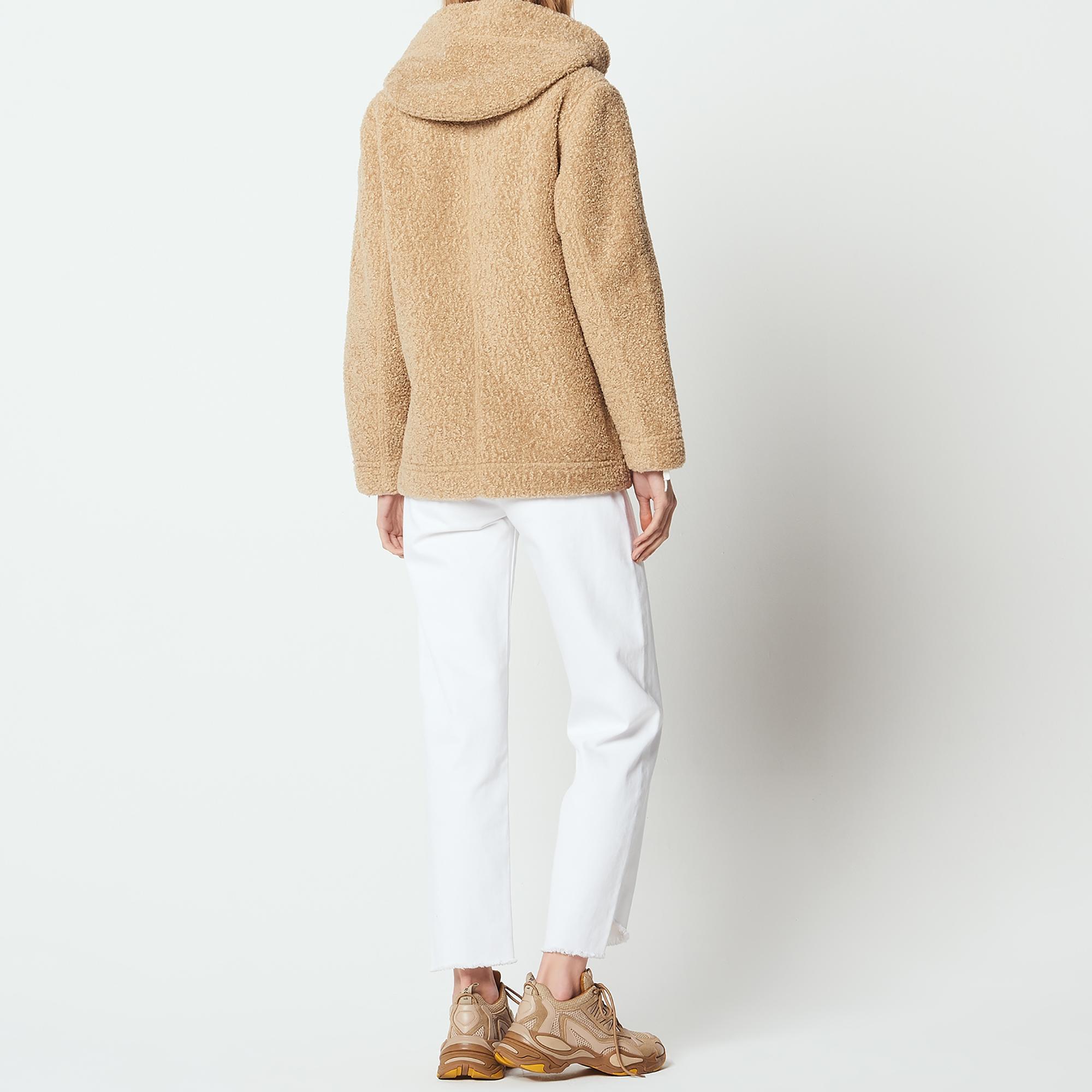 Kurzer mantel camel